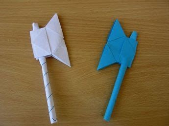 paper battle axe easy tutorials youtube