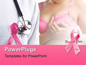Powerpoint template pink ribbons depiction breast cancer for Free breast cancer powerpoint presentation templates