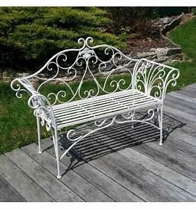 Banc De Jardin En Fer : banc de jardin en fer forg blanc ~ Melissatoandfro.com Idées de Décoration