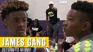 Bronny and Bryce James Put on a SHOW for Pops in South Beach