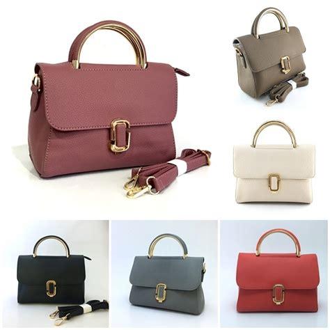 handbag tas dompet import murah jual b028 darkpink tas handbag elegan grosirimpor