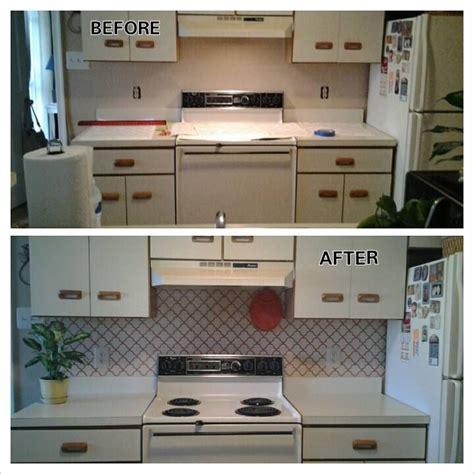 tiles in kitchen ideas 1000 ideas about vinyl backsplash on wall 6230