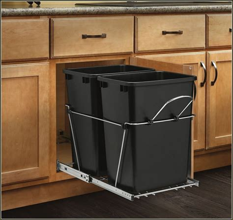 under cabinet trash can pull out home design ideas