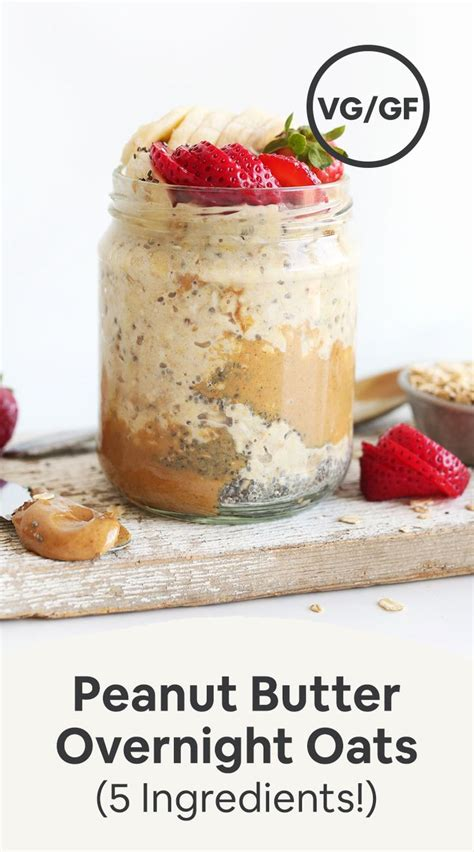 Your daily values may be higher or lower depending on your calorie needs. Peanut Butter Overnight Oats (5 Ingredients!) | Recipe | Peanut butter overnight oats, Low ...