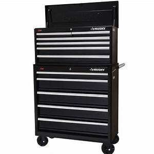 Husky Black Steel 36 in 11 Drawer Tool Chest and Cabinet