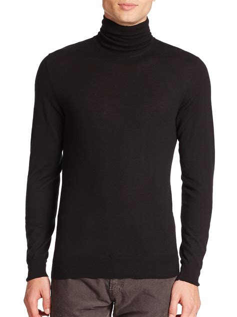 mens wool turtleneck sweater ralph black label merino wool turtleneck sweater in