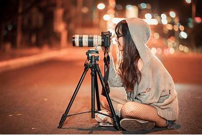 Taking Night Photographer During Outdoors
