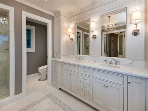 White Master Bathroom Countertops Design Ideas