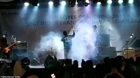 Shocking Moment Tsunami Crashes Through Packed Concert In