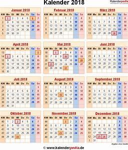 Ferien Nrw 2018 19 : kalender 2018 mit kw 2019 2018 calendar printable with holidays list kalender kalendar ~ Buech-reservation.com Haus und Dekorationen