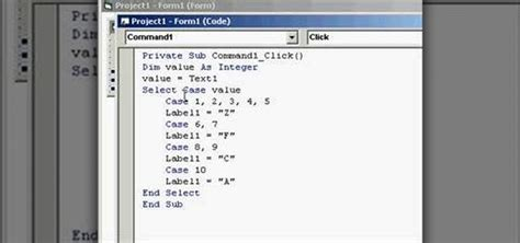select case statements  programming