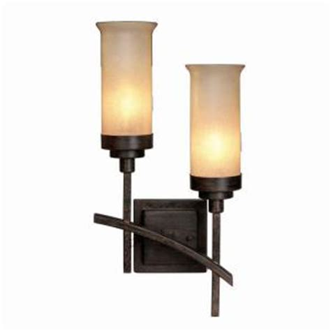 hton bay 2 light iron oxide wall sconce 18012 the