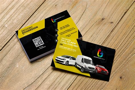 stylish automotive business card design graphicsfamily