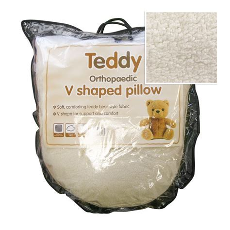 Teddy   Orthopaedic   V Shaped   Pillow   Tonys Textiles