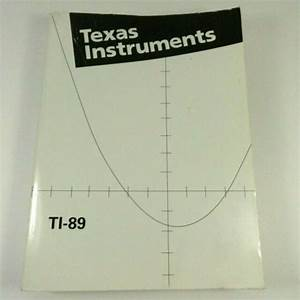 Texas Instruments 1998 Graphing Calculator Instructions