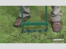 How to Aerate, Spike & Hollow Tine a Lawn YouTube