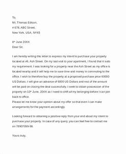 7 sample real estate offer letters sample templates With sample of offer letter to buy a house
