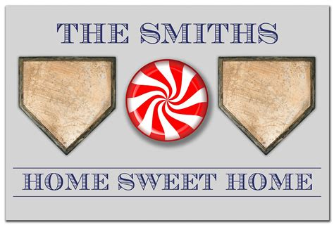 Baseball Doormat by Personalized Home Sweet Home Baseball Doormat