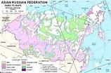 Language maps of Russian Federation (Asia)