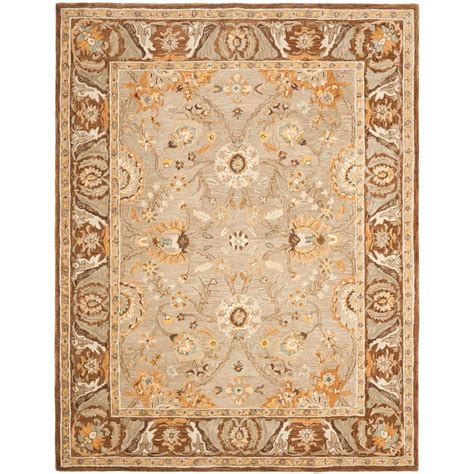 Gray And Brown Area Rug by Safavieh Anatolia Dark Grey Brown 8 Ft X 10 Ft Area Rug