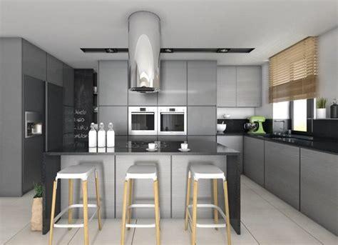 cuisine avec plan de travail noir plan de travail cuisine 50 idées de matériaux et couleurs