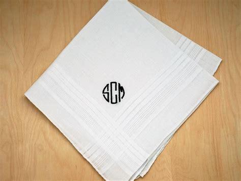 image gallery monogrammed handkerchiefs mens monogrammed wedding hankie w 3 initials font o