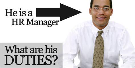 Hr Manager Job Description Sample