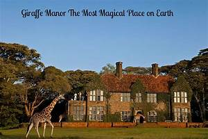 Giraffe Manor The Most Magical Place On Earth
