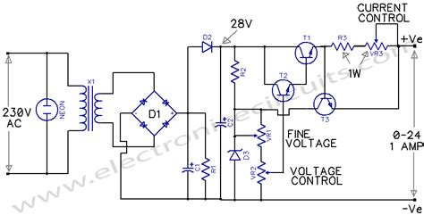 Variable Power Supply Electronic Circuits