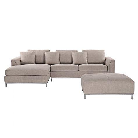 divano ottomano divano angolare in tessuto beige con ottomano abbinato