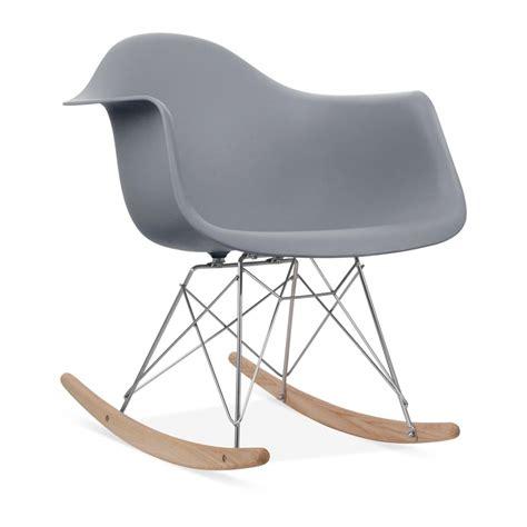 eames style grey rar rocker chair wood rocking chairs
