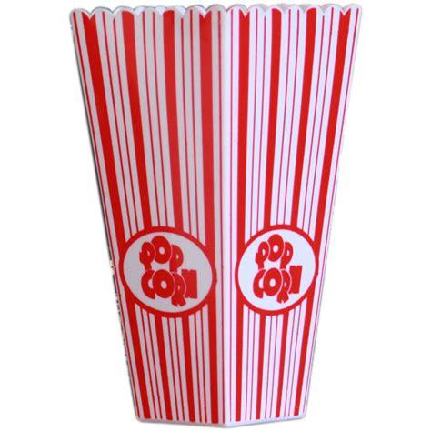 Gestreifter Plastik Popcorn Behälter Mit 1x 100g