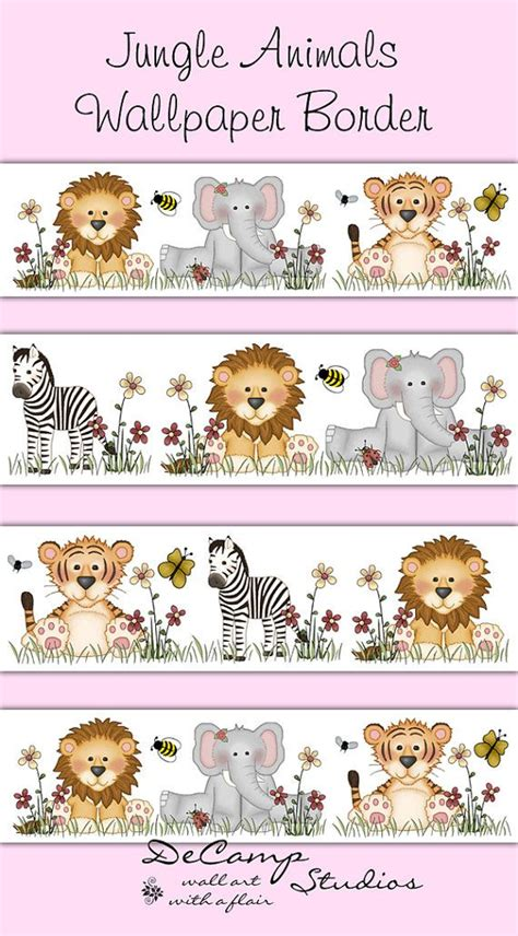 Baby Jungle Animals Wallpaper Border - best 25 wallpaper borders ideas on wallpaper