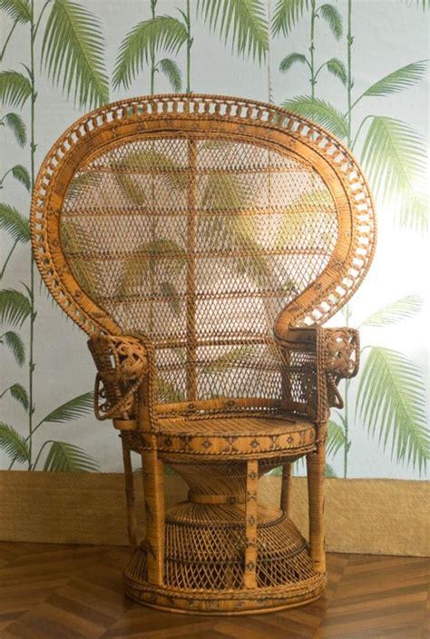 emmanuelle chair vintage rattan armchair vintage