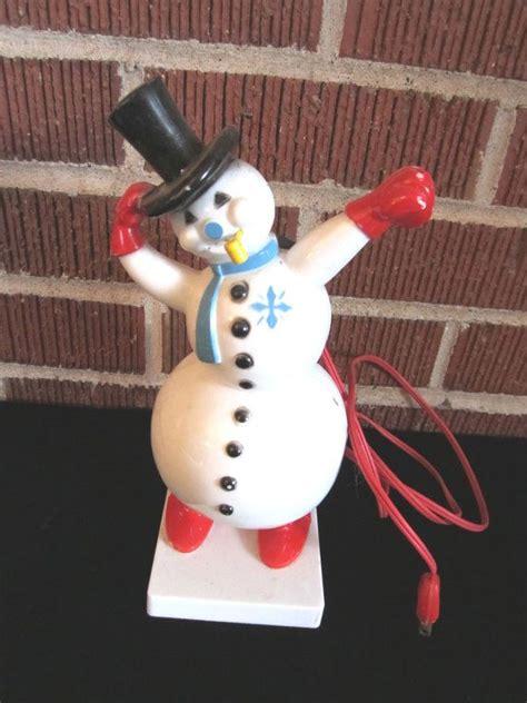 vintage snowman blow mold vintage christmas blowmolds