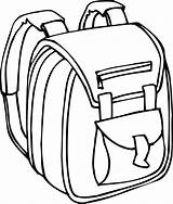 Backpack Clipart Cliparts Coloring sketch template