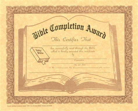 Of The Bible Certificate Free Bible Certificate Programs