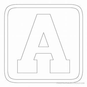 Large block letters template learnhowtoloseweightnet for Block letter stencil templates