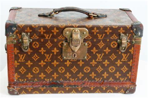 antique louis vuitton book trunk monogram canvas early   rare home decor  stdibs