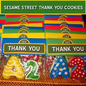 Sesame Street Thank You Cookies - Two Sisters