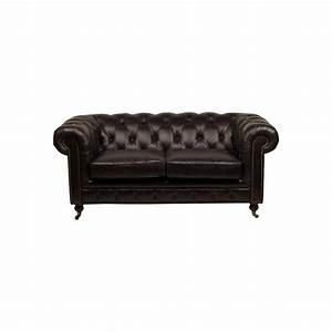 Chesterfield 2 Places : le canap chesterfield black 2 places en cuir noir ~ Teatrodelosmanantiales.com Idées de Décoration