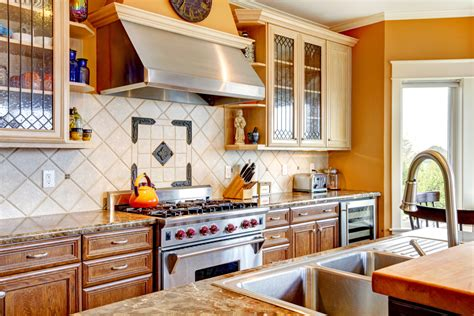 Kitchen Backsplash Centerpiece by From Granite And Marble To Travertine And Slate Which
