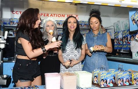 Cute! Little Mix handing out free ice-cream to their fans ...