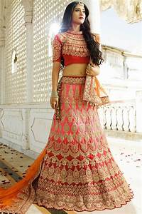 Buy Pink and red color silk wedding lehenga choli in UK, USA and Canada