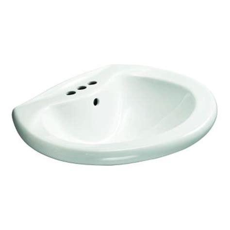 glacier bay shelburne 20 in pedestal sink basin in white