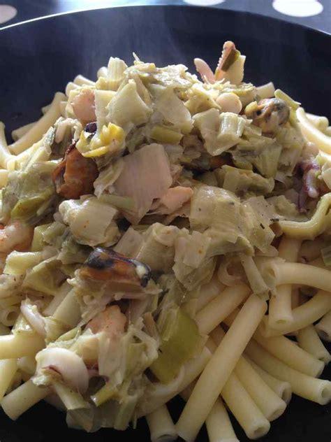 p 226 tes aux poireaux fruits de mer curry et sa cuisine gourmande et l 233 g 232 re
