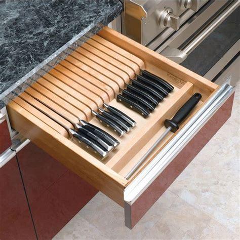 kitchen knife storage drawer kitchen storage tips and tricks renovator mate 5290