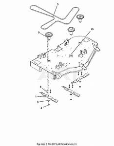 Ariens 915205  016000 -   Ikon-x 52 Parts Diagram For Deck  Belt  Blades And Spindles