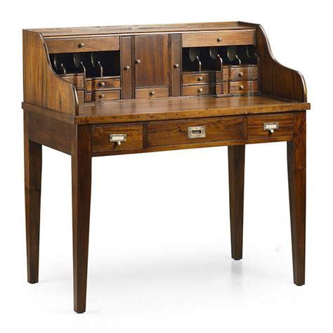 bureau secr aire meuble secrétaire style colonial en acajou bureau bois massif