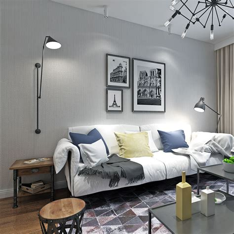 Living Room Wallpaper Grey Walls by Modern Solid Color Blue Grey Wallpaper Roll For